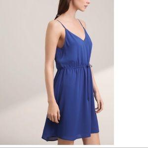Aritzia Babaton blue spaghetti strap dress